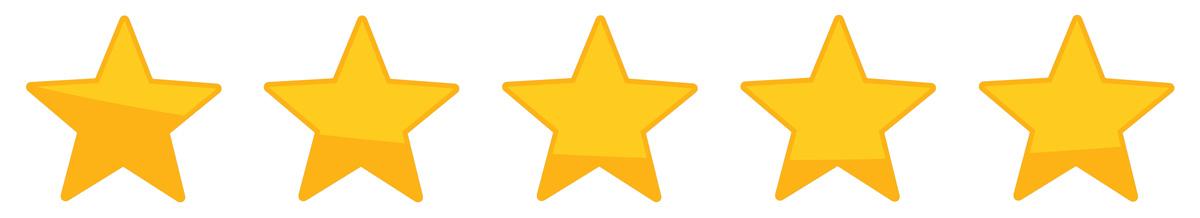 Vijf sterren beoordeling
